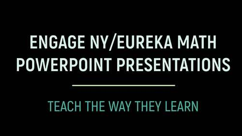 Engage NY/Eureka Math PowerPoint Presentations 1st Grade Module 1 ALL LESSONS!