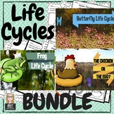 Life Cycles: Chicken Frog and Butterfly TRIPLE BUNDLE Vide