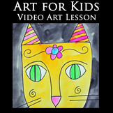 Video Art Lesson for Kids: Drawing and Watercolor Painting