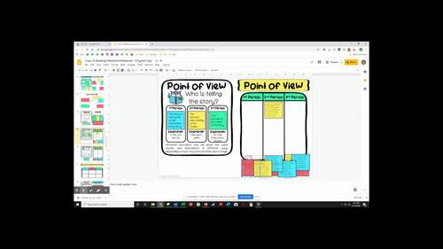Reading Interactive Notebook w/ Google Slides Digital Option | Distance Learning
