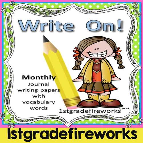 WRITE ON!  12  Months of Journal Writing Papers UPDATED