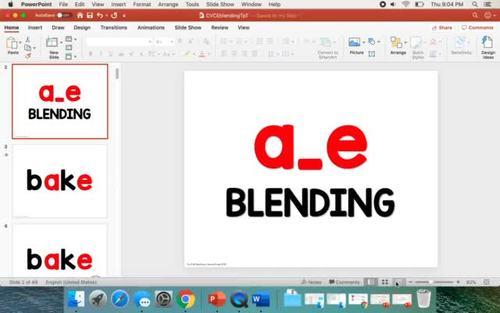 CVCe Blending Powerpoint | Magic E | Silent E