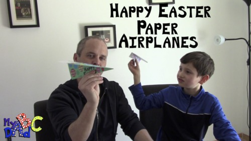 How to make Happy Easter Paper Airplanes Video Mini-Lessons