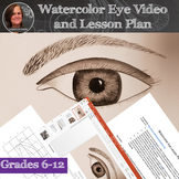 Watercolor Eyes Art Lesson - with lesson plan and worksheets
