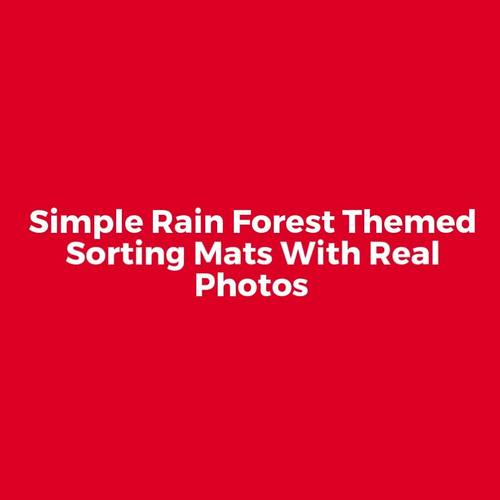Rain Forest Animals Sorting Mats (With Real Photos)