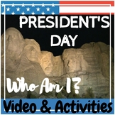 February President's Day - Mystery Presidents Video & Acti