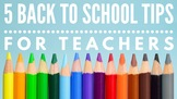 Back to School Tips for Teachers