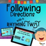 Following Directions with a Rhyming Twist