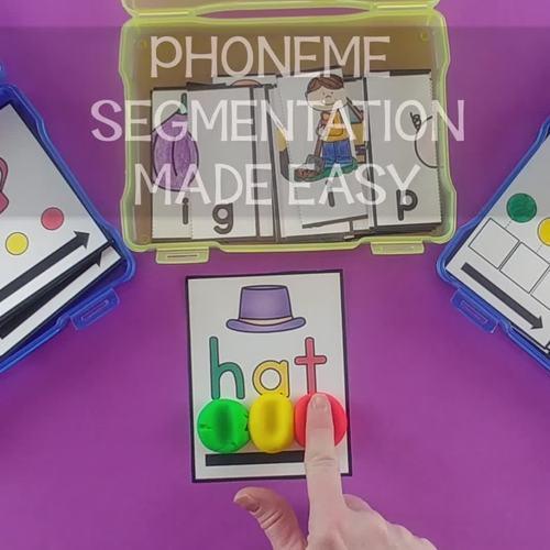 CVC Word Sliders {Phoneme Segmentation}