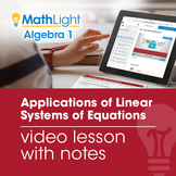 Applications of Linear Systems of Equations Video Lesson |
