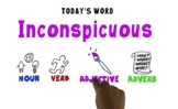 Word of the Week Vocabulary: INCONSPICUOUS: Video + Online