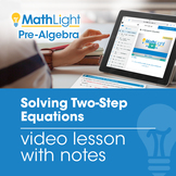 Solving Two-Step Equations Instructional Video | Good for