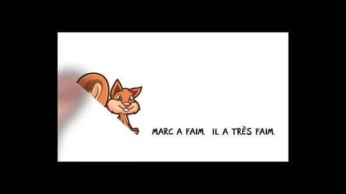 Marc a faim - comprehensible input video lesson for beginning French
