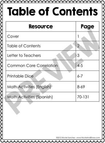 Spring Kindergarten Math Activities