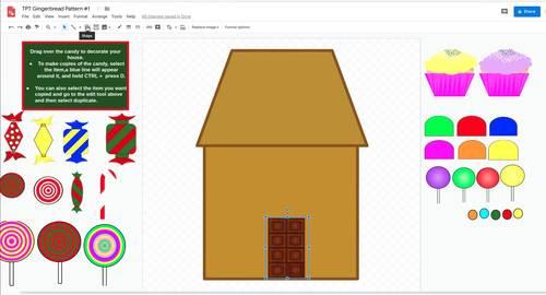 Classroom Christmas Gingerbread Village  - All Digital (Google Classroom Ready)