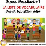 """17 French Class Transition Video """"Vocabulary"""" for CI TCI T"""