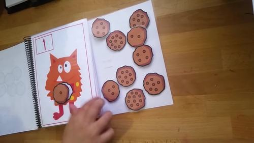 "Adapted book ""The Monster wants to eat"" 1-10. Hands-on Learning"