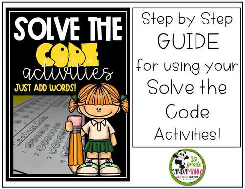 Spelling Activities for Any List of Words Solve The Code 10 Words #5