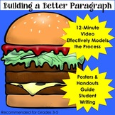 Writing Paragraphs Video with Hamburger Analogy