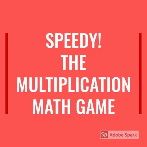 SPEEDY! The Multiplication Card Game - 4 TIMES TABLE - Skip Counting & ARRAYS