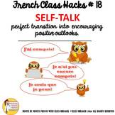 """18 French Class Transition Video """"Positive Self-Talk"""" for"""