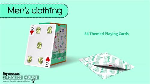 Men's clothing Themed Playing Cards Deck