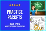 Music Teacher Tip #12: Practice Packets