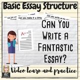 English ELA Writing I Bet You Can! Basic essay form/struct