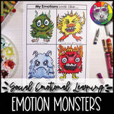 Emotions Monsters, Social Emotional Learning Art Lesson