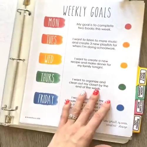 Distance Learning Schedule Planner | Homeschool Planner {50% OFF}