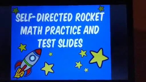 Rocket Math Practice Slides for Math Facts - Timed Tests