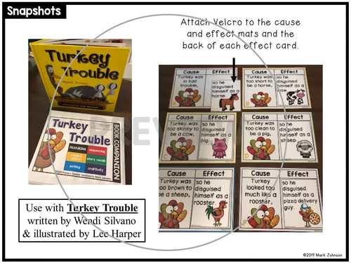Turkey Trouble Book Companion Activities