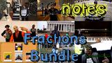 Music Notes Fractions Bundle