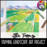 Farm Landscape Art Project, Landscape Art Lesson