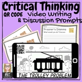 Critical Thinking or ELA Philosophy QR Code writing/discus
