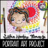 Alma Woodsey Thomas Art Lesson, Portrait