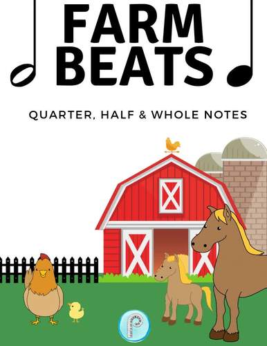 Primer Piano Game- Quarter, Half and Whole Notes