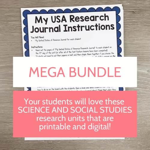 Science and Social Studies Research Units Mega Bundle- PRINTABLE + GOOGLE