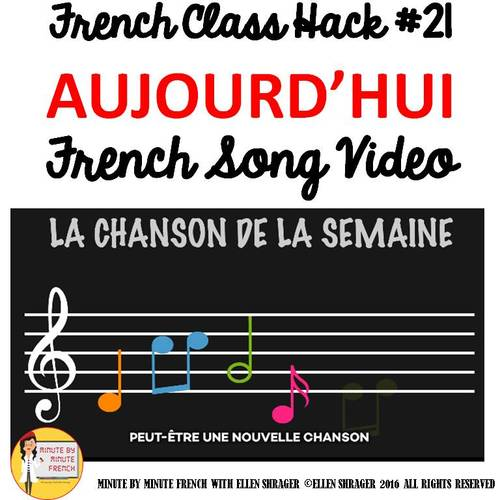 """21 French Class Transition Video """"Today I Learned"""" for CI TCI TPRS and 90% TL"""