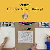 Distance Learning Video: How to Draw a Bunny  Easy Easter