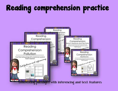 Distance Learning Springtime Reading Comprehension Bundle