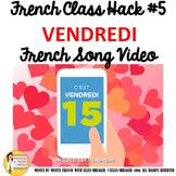 """5 French Class Transition Video """"Friday"""" for CI TCI TPRS _"""