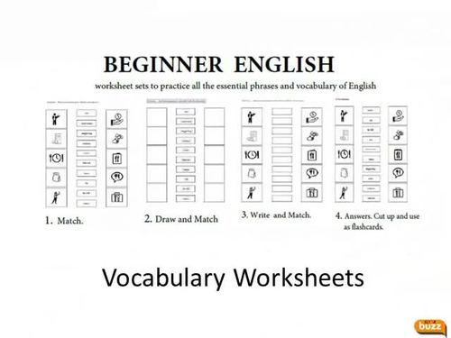 Beginner ESL EFL Vocabulary Worksheets By ELT Buzz Teaching Resources