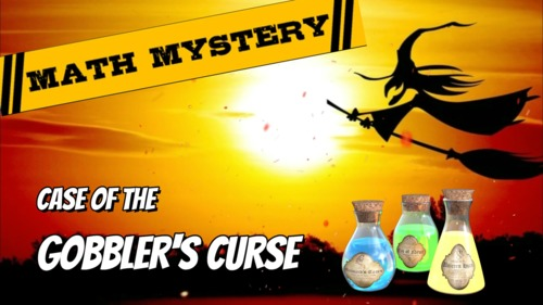 """Thanksgiving Math Mystery Activity """"Case of The Gobbler's Curse"""" VIDEO HOOK"""