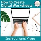 How to Create Digital Worksheets