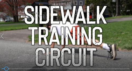 Sidewalk Chalk Circuit Training