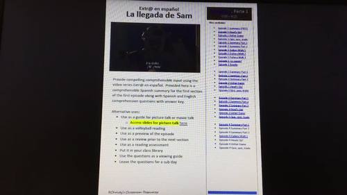 Extr@ en español  Episode 1 Section 1 Summary & questions (Spanish Extra)