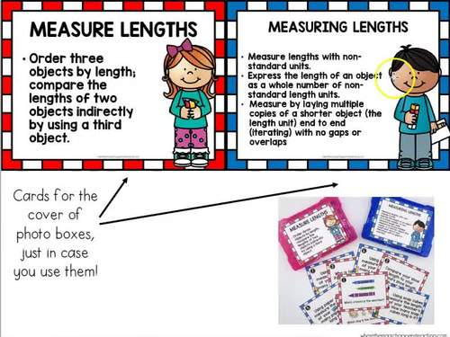 Measuring Lengths with Non-Standard Units Task Cards 1.MD.A.1-2