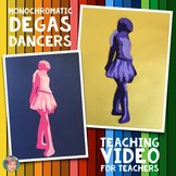 FREE Monochromatic Degas Dancer Teaching Video (templates