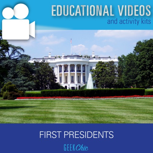 President's Day American History First Presidents Video + Activities Kit!